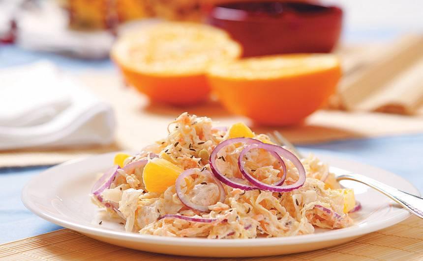 Skābētu kāpostu salāti recepte