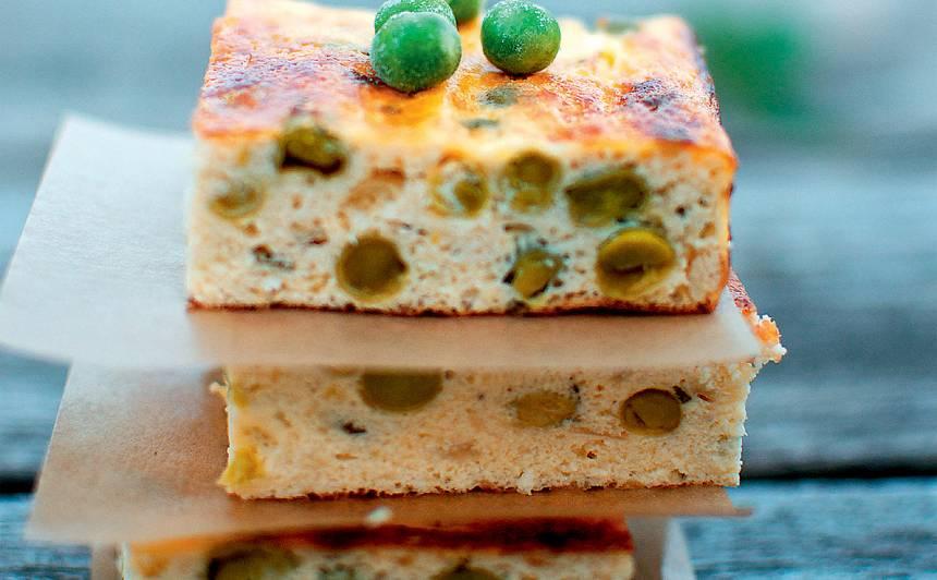 Krāsnī cepta zirnīšu omlete recepte