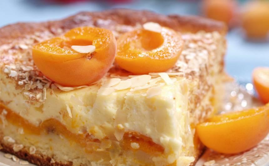 Aprikožu siera kūka recepte