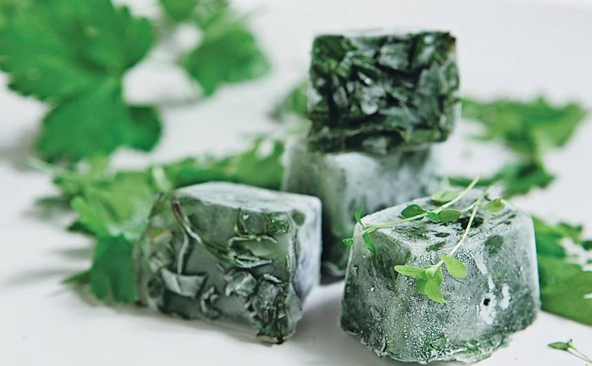 Saldētie zaļumu kubiciņi