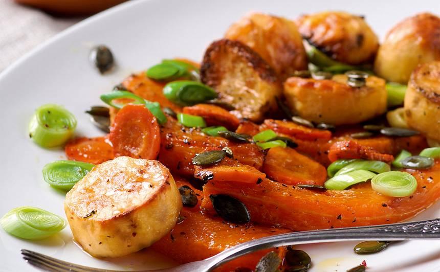 Krāsnī cepts ķirbis ar kartupeļiem recepte