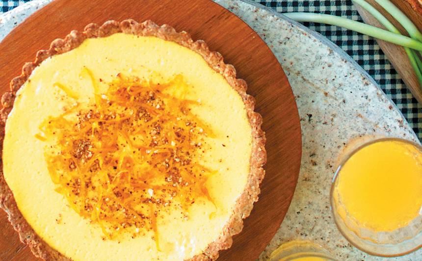 Mandeļu un apelsīnu tarte recepte