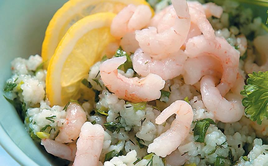 Rīsu, garšaugu salāti recepte