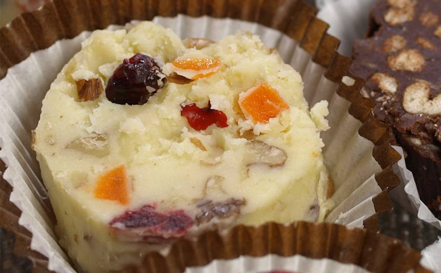 Baltās šokolādes konfektes recepte