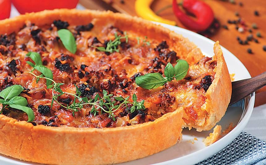Maltās gaļas un dārzeņu kūka recepte