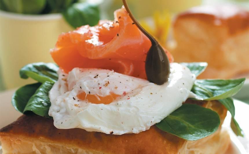 Bez čaumalas vārīta ola ar lasi recepte