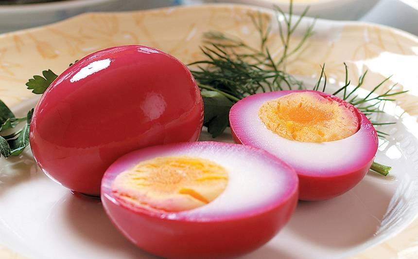 Bietēs marinētas olas recepte