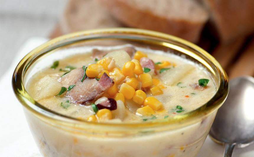 Žāvētas zivs zupa ar kukurūzu receptes