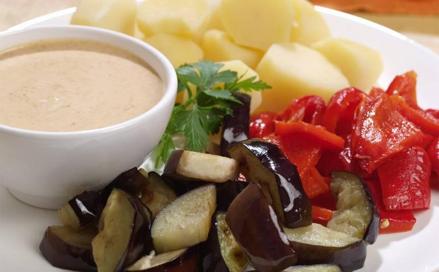 Baklažānu un jauno kartupeļu tapas recepte