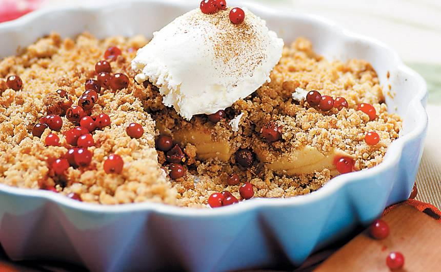 Drumstalu ābolkūka no četru graudu pārslām recepte
