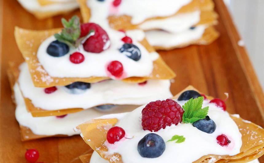 Filo mīklas ātrā Napoleona kūka recepte
