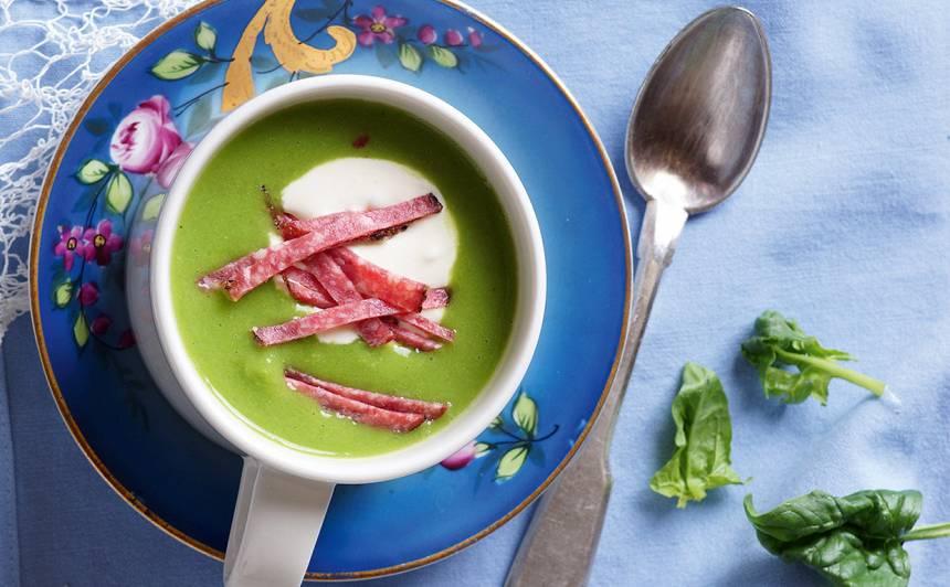Aukstā zirņu zupa recepte