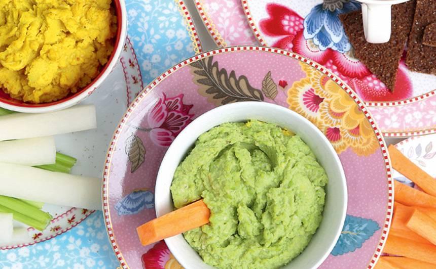 Zaļo zirnīšu humoss recepte