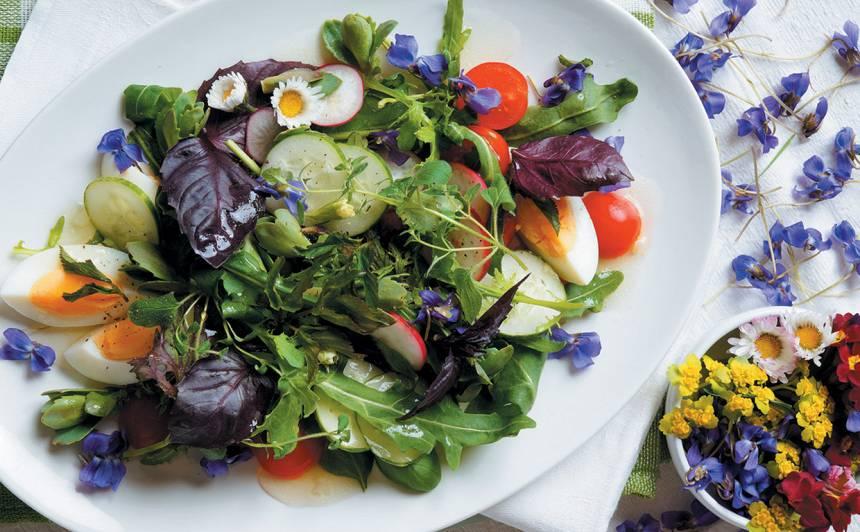 Krāsainie pavasara salāti recepte