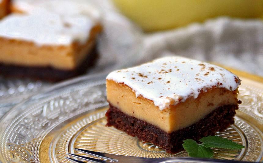 Ķirbja brūnīša siera kūka ar  kanēļa putekļiem
