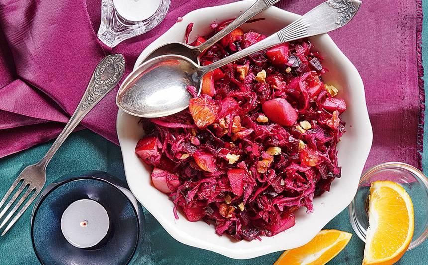 Sarkanie svētku salāti recepte