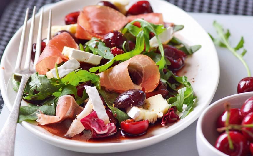 Salāti ķiršu mērcē recepte