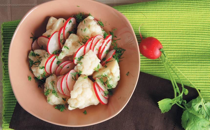 Redīsu un ziedkāpostu salāti recepte