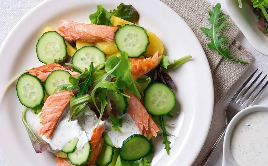 Salāti ar lasi un kartupeļiem receptes tievētājiem