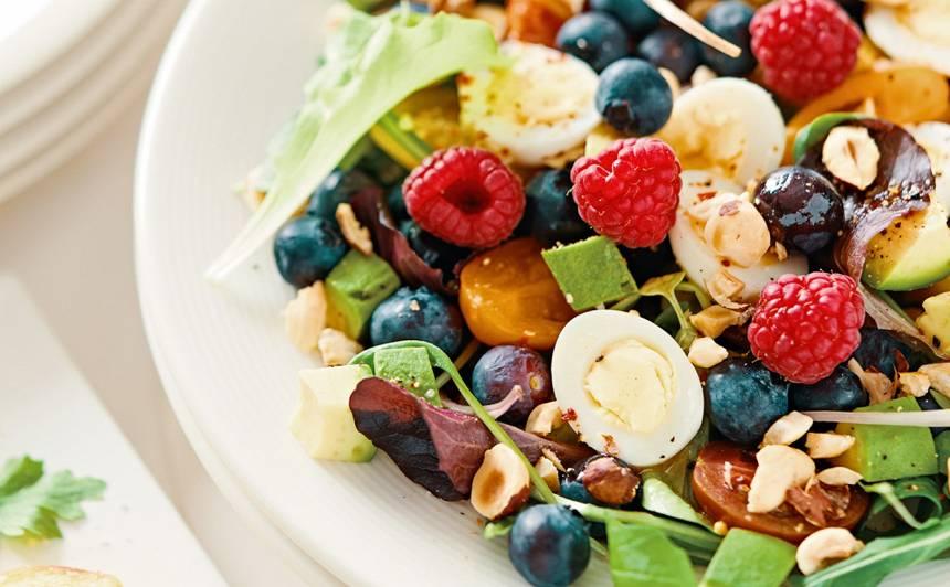 Krāsainie lieldienu salāti recepte