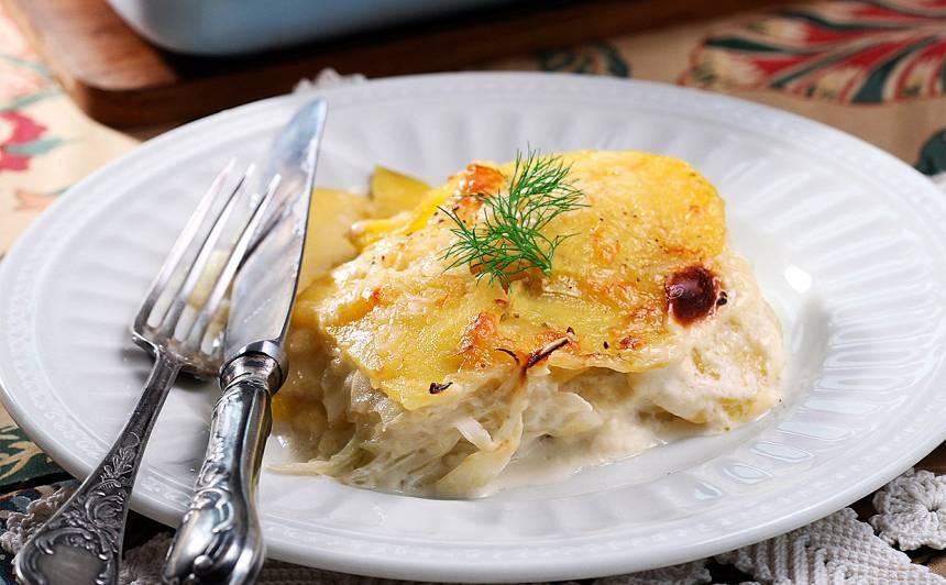 Sacepums ar  kartupeļiem un sieru recepte
