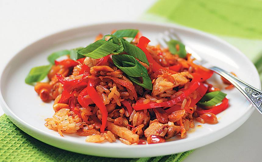 Asā vista rīsos recepte
