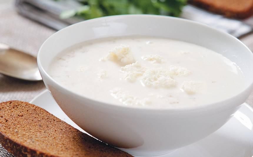 Piena zupa ar biezpienu recepte