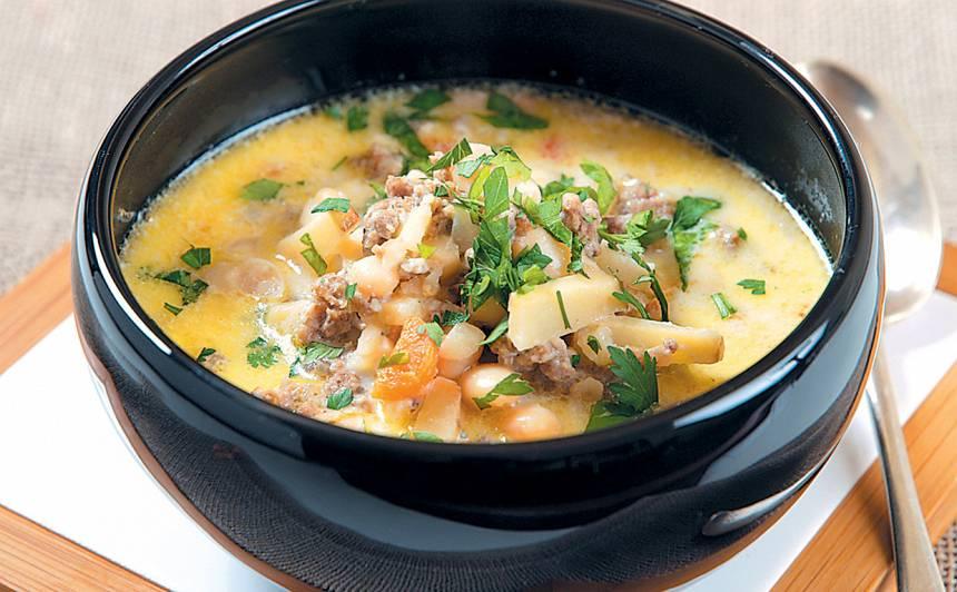 Pupiņu zupa ar malto gaļu recepte