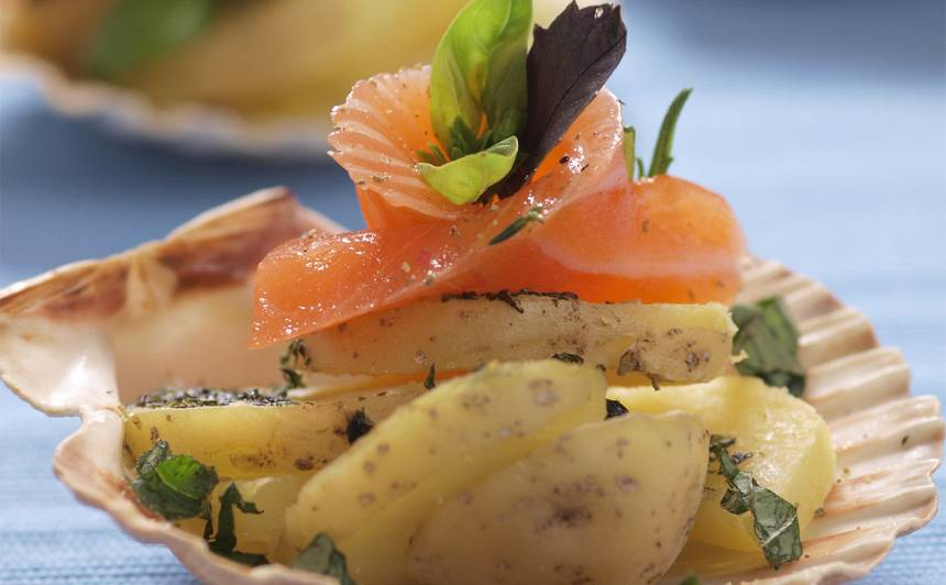 Laša uzkoda ar ceptiem kartupeļiem recepte