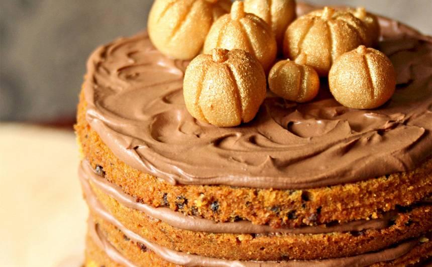 Ķirbja, ingvera un šokolādes kūka recepte