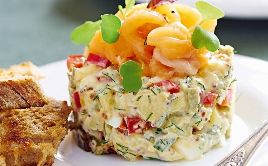 Kartupeļu un olu salāti ar paliju recepte