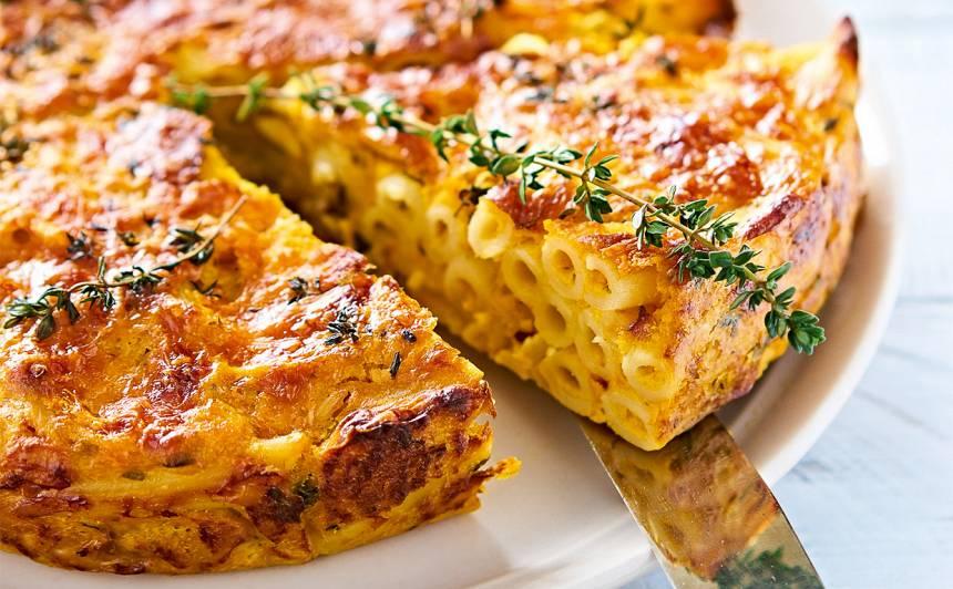 Makaronu, ķirbja pīrāgs recepte