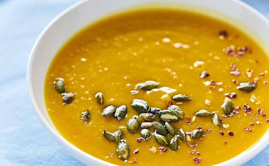 Dzeltenā ķirbju biezzupa recepte