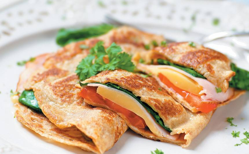 Pankūkas ar kārtainu pildījumu recepte