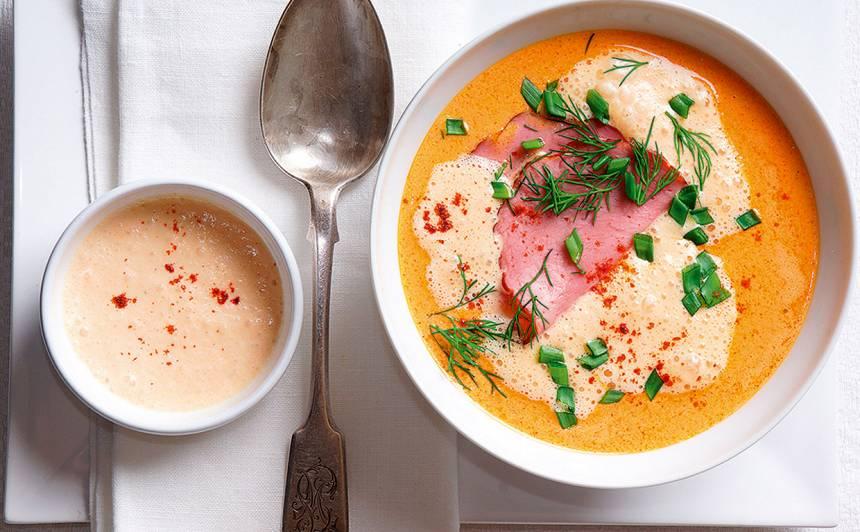 Paprikas zupa ar liellopa fileju