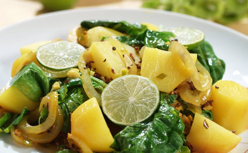 Kartupeļu karijs recepte