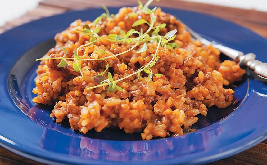 Malta gaļa rīsos recepte