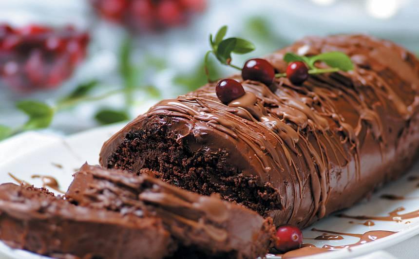 Šokolādes rulete recepte