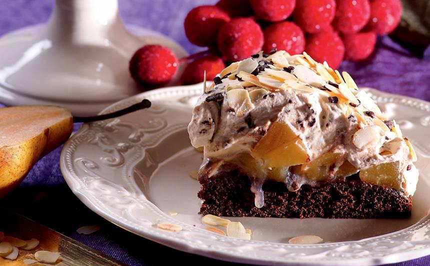 Kapučīno torte ar bumbieriem