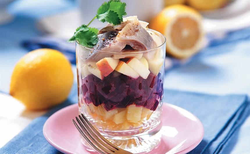 Siļķu salāti ar bieti recepte