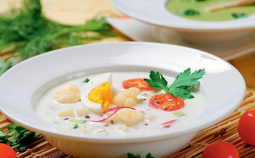 Kefīra zupa ar dārzeņiem recepte