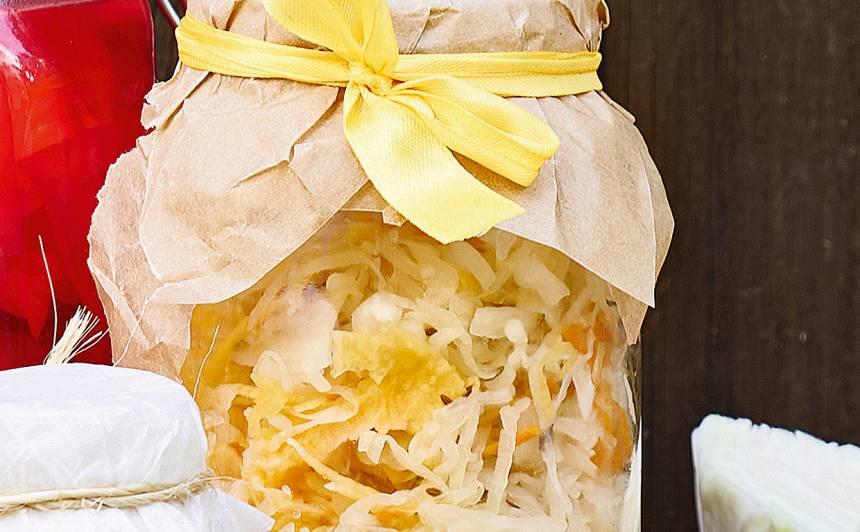Skābētu kāpostu salāti ar ķirbi receptes