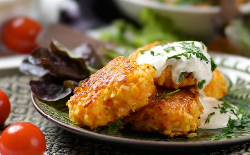 Burkānu un rīsu plācenīši recepte