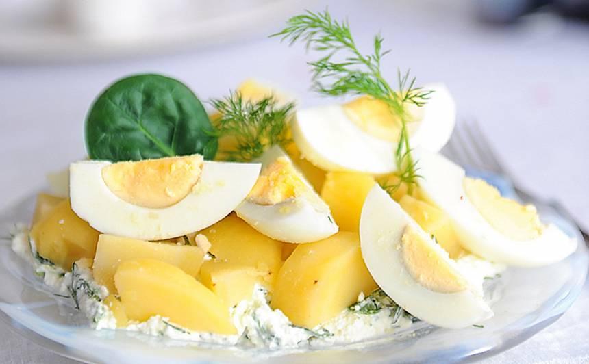 Kartupeļu un olu salāti recepte