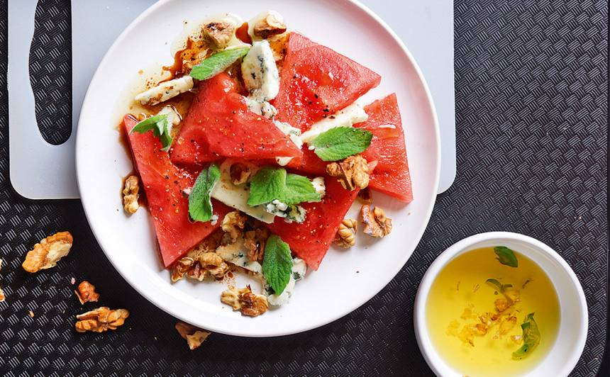 Arbūza salāti recepte