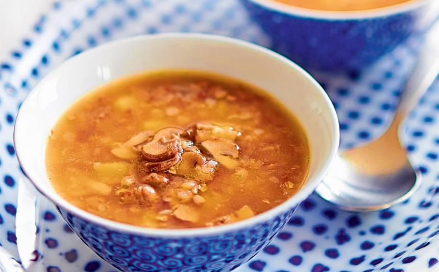 Griķu un sēņu zupa recepte