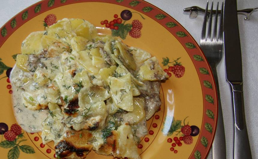 Kartupeļi ar anšoviem