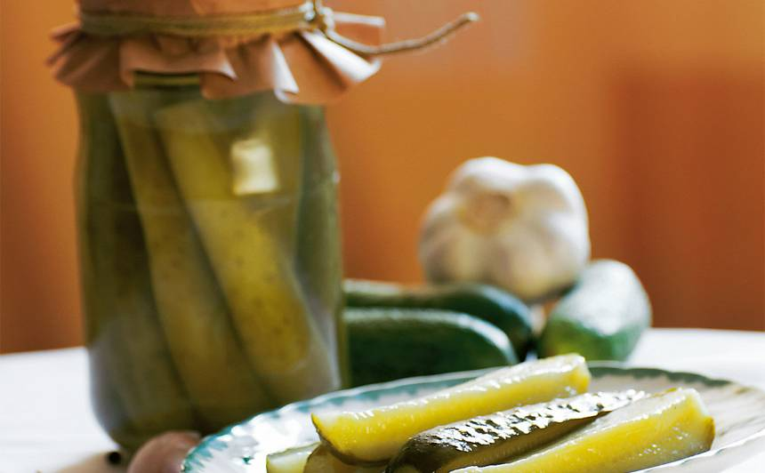Sinepju gurķi eļļas marinādē