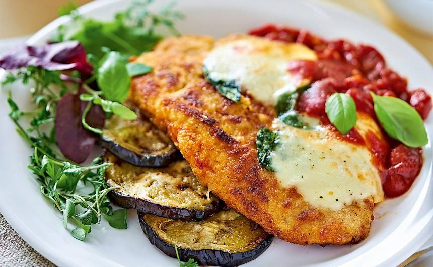 Vista ar baklažāniem tomātu biezenī recepte