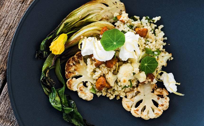Sēņu un bulgura salāti ar pakčoju receptes